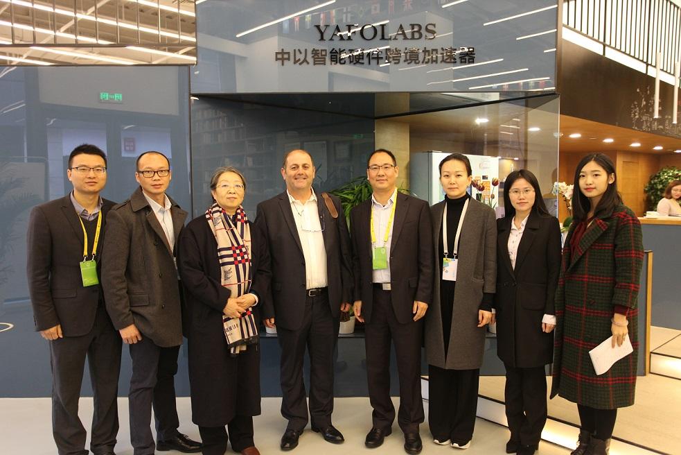 竹海科技总经理毛桂华与埃坦·西格尔先生合影留念